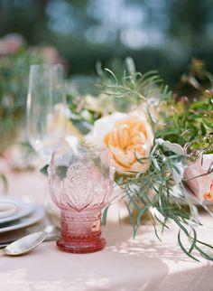 Photography: Koby & Elizabeth Brown, KobyBrown.com | Swan House in Atlanta, GA | Historic Venue Wedding | Vintage Lace Wedding Gown | Anthro glass