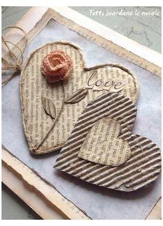 Valentines Bricolage, Valentine Day Crafts, Valentine Decorations, Heart Decorations, Christmas Decorations, Diy Design, Design Page, Modern Design, Book Page Crafts