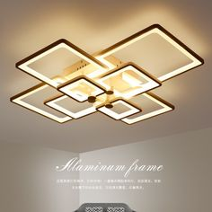 """HOT PRICES FROM ALI - Buy """"Surface Mounted Acrylic Modern Led Ceiling Lights For Living Room Bedroom Dimming Ceiling Lamp light fixtures luminaire """" from category """"Lights & Lighting"""" for only 169 USD. Living Room Mirrors, Bedroom Lamps, Living Room Lighting, Bedroom Ceiling, Ceiling Chandelier, Ceiling Lighting, House Lighting, Tube Led, Study Room Design"""