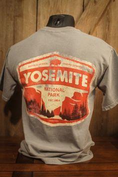 Yosemite National Park - Vintage Patch Tee - River Blue - Back