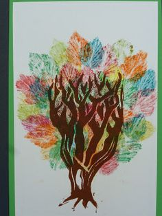 Mrs. Kamp's Canvas: Adventures in Middle School Art!: Tree and Foliage Printmaking