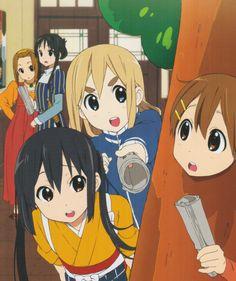 Tainaka Ritsu, Akiyama Mio, Kotobuki Tsumugi, Nakano Azusa & Hirasawa Yui