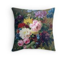 Colorful Vintage Art with Flowers, Fruit, and a Bird's Nest Throw Pillow, Tote, & More