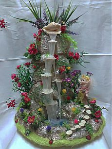 Best 11 Large OOAK Fairy Grotto with Waterfall and Steps by Forestina-Fotos – SkillOfKing. Fairy Crafts, Garden Crafts, Diy And Crafts, Bead Crafts, Miniature Crafts, Miniature Fairy Gardens, Diy Flowers, Beaded Flowers, Plastic Flowers