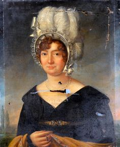 Louis Alexis Lecerf, Portrait of a Lady, 1816