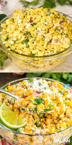 Cheesy Recipes, Easy Healthy Recipes, Mexican Food Recipes, Dinner Recipes, Easy Meals, Corn Salad Recipes, Corn Salads, Amazing Food Videos, Mexican Street Corn Salad
