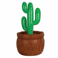 """The cactus beverage cooler is a perfect accessory for any western party or cinco de mayo party.  The cactus beverage cooler stands 26"""" tall and will hold approximately 24 12 ounce cans. Just add ice to the cactus beverage container to create an instant cooler"""