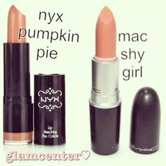 From high end to just right.... nyx pumkin pie-mac shy girl