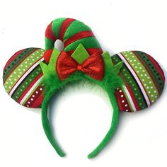elf mickey ears christmas mickey ears