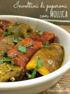 involtini di peperoni con mollica ok Sicilian Recipes, Best Italian Recipes, Sicilian Food, Antipasto, Vegetable Recipes, Vegetarian Recipes, Cold Dishes, Appetisers, Calories