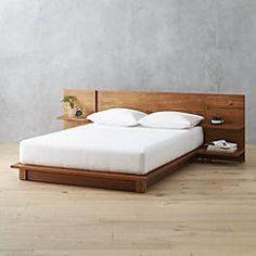 View larger image of andes acacia full bed (mattress sold separately). Platform Bed Designs, Diy Platform Bed, Modern Platform Bed, King Platform Bed Frame, Platform Bedroom, Bedroom Bed Design, Bedroom Sets, Bedding Sets, Wood Bed Design