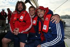 Adam Jones, Dan Lydiate and Rob Kearney all took time out from training to set sail in Sydney - British & Irish Lions 2013: The best of the off-field action in Australia #BritishandIrishLions #rugby