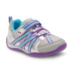 Toddler Girls' Surprize by Stride Rite Shea Bungee Sneakers - Silver/Blue, Toddler Girl's