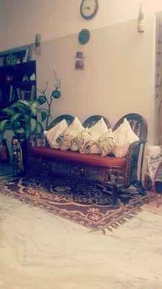 Interior with cane decor