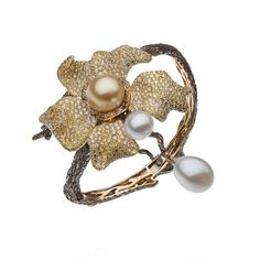 Indigenous Australian orchids are brought to life in Autore's latest collection of pearl jewellery