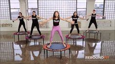 REBOUNDFIT BEGINNER/INTERMEDIATE WORKOUT ON MINI TRAMPOLINES - YouTube