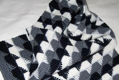 Elegant Scarf free crochet graph pattern