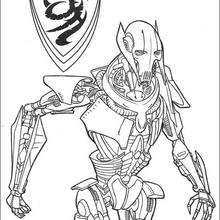 General Grievous Coloring Page Movie Coloring Pages Star
