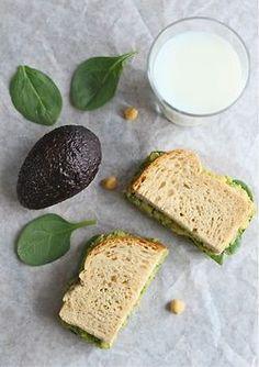 chick pea and avocado sandwich