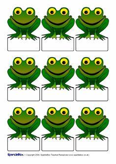 Pupil self-registration frogs (SB1796) - SparkleBox
