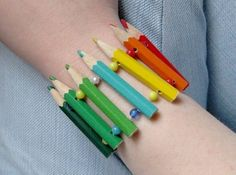 Colored Pencil Bracelet-REcylced project for art metals