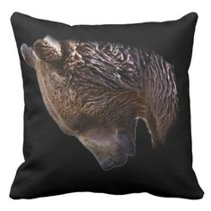 American Brown Grizzly Bear Animal Nature Wildlife Throw Pillow - decor gifts diy home & living cyo giftidea