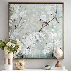 Add a floral touch to your home with this Cherry Blossoms Framed Canvas Art Print. The rustic design and calm soothing tones will stick out on any wall. Canvas Art Prints, Canvas Wall Art, Abstract Canvas Art, Home Decor Paintings, Modern Paintings, Tree Art, Canvas Frame, Painting Inspiration, Art Pictures
