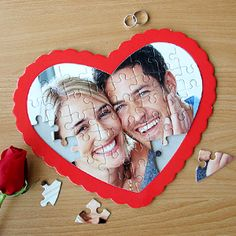 Your Own Photo Heart Puzzle. Perfect for Valentines Day Gift!