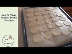 How To Freeze Fondant Details Ahead Of Time for Cake Decorating - YouTube