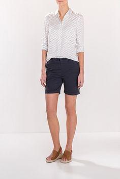 Chino Short Chino Shorts, Bermuda Shorts, Summer 2015, Summer Outfits, Women Wear, Clothes, Stitch, Fashion, Outfits