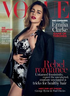 Emilia Clarke for Vogue Australia May 2016.