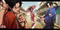 Jin,Mugen,Fuu Kasami - Samurai Champloo,Anime