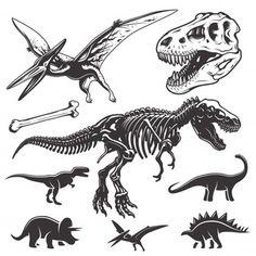 Dinosaur Funny, Dinosaur Art, Dinosaur Fossils, Skeleton Drawings, Skeleton Tattoos, Dinosaur Skeleton, Dinosaur Bones, T Rex Tattoo, Dinosaur Posters