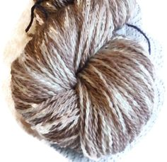 "Hand Dyed Bluefaced Leicester Wool Beige Sock Yarn, Kettle Dyed Beige Yarn 2-ply, Beige Sockyarn, Beige Fingering Yarn, ""Dessert""."
