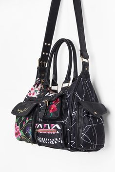 This bag from Desigual s Spring Summer collecton measures 32 x 12 x 25.5 cm. f9ea5b2b1cac