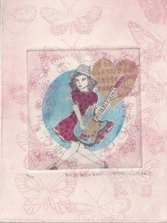 Gravures & Estampes | Atsuko Ishii | Rose bonbon | Tirage d'art en série limitée sur L'oeil ouvert