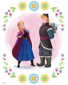 Anna and Kristoff Disney Pixar, Disney Movie Characters, Disney Cartoons, Disney And Dreamworks, Disney Frozen, Disney Art, Anna Frozen, Disney Couples, Disney Love