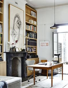 home Office Decor Modern Victorian Homes, Victorian House Interiors, Victorian Design, Victorian Terrace, Victorian Houses, Home Office Design, Home Office Decor, Home Decor, Office Ideas