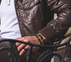 The MDA band and the 18k Gold bracelets including the famous Morning Star Spike Bracelet | #NotForTheOrdinary learn more at http://ift.tt/1V3EwjM #MarcosdeAndrade