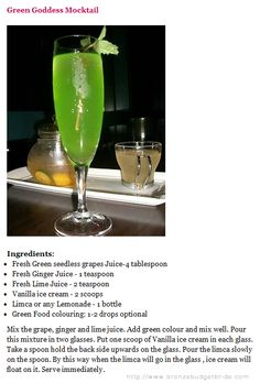 Green Goddess Mocktail