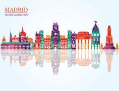 Horizonte de Madrid — Ilustración de stock #63567507