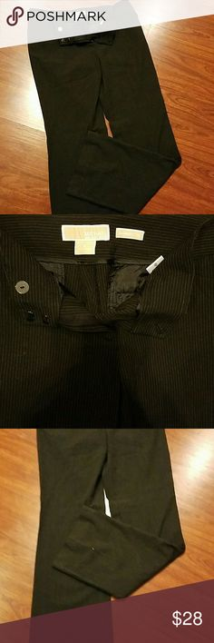 Michael Kors pin striped Gramercy fit pants size 4 In pic 4 one of the hems is coming loose easy fix Michael Kors Pants