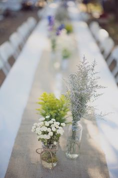 DIY Country Wedding filled with thoughtful wedding touches. Including some super cute dresses from Anthropologie.