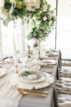 Bright & Classic Cool-Toned Styled Shoot | Cedar Rapids, IA - Evelyn Bridal gown