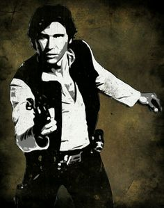 Pop Art print of Han Solo from Star Wars. Measures 8 x 10 inches. Image is printed on Kodak Supra Endura Glossy Photo Paper. Power Pop, Roy Lichtenstein, Andy Warhol, Han Solo Shot First, Star Wars Pop Art, Han And Leia, Star Wars Episode Iv, Culture Pop, The Force Is Strong