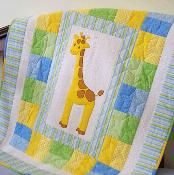 Giraffe Baby Quilt - via @Craftsy