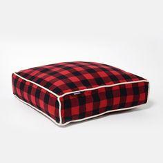 Buffalo Plaid Square Bed