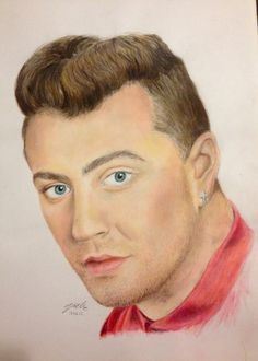 Sam Smith portrait by me (victoria mead) 17.03.2015