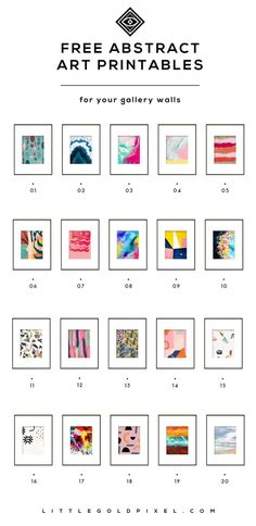 diy Art prints - 20 Free Abstract Art Printables for Your Gallery Walls • Little Gold Pixel Free Art Prints, Wall Art Prints, Free Artwork, Diy Wall Art, Framed Wall Art, Wall Decor, Quote Wall Art, Cuadros Diy, Wal Art