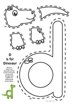 Cut and Paste AGES is a cut and paste activity to develop hand eye coordination and letter r Preschool Letter Crafts, Dinosaur Theme Preschool, Abc Crafts, Dinosaur Activities, Alphabet Letter Crafts, Preschool Projects, Preschool Printables, Alphabet Activities, Preschool Activities